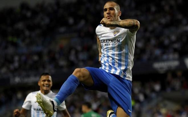 Sandro celebra por todo lo alto su tercer gol en lo que llevamos de Liga Santander