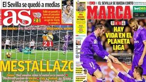 Las portadas de la prensa de Madrid