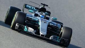 Valtteri Bottas durante las pruebas en el Circuito Barcelona-Catalunya