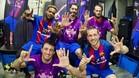 Los cinco jugadores del Barça que celebraron la séptima Liga seguida