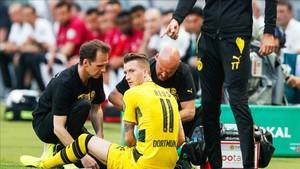 Reus sufriría una ruptura parcial del ligamento cruzado de la rodilla derecha