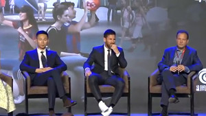 Leo Messi, durante la presentación del proyecto Messi Experience Park en Pekín