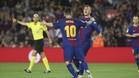 Messi, en un momento del encuentro celebrado este sábado en el Camp Nou entre el FC Barcelona y el Málaga CF