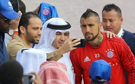 Arturo Vidal no sali� de fiesta en Doha