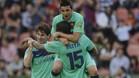 Keita marc� un gol hist�rico en el campo del Levante en 2011. Lo festej� junto a Villa y Messi