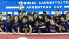 Los j�venes barcelonistas celebraron un nuevo t�tulo�
