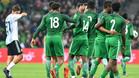 Los nigerianos festejaron una remontada que dejó en evidencia a Argentina