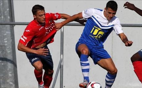 Luismi Quezada, en un partido ante el Badalona