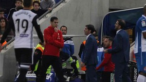 Marcelino fue expulsado ante el Espanyol