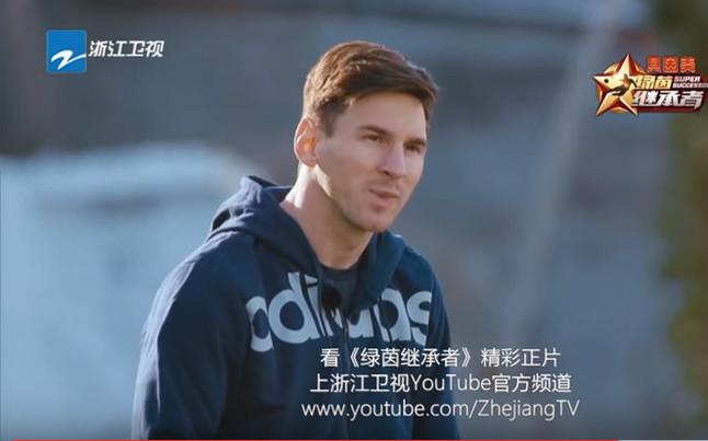 Messi participó tirando al aro de basquet en Japón