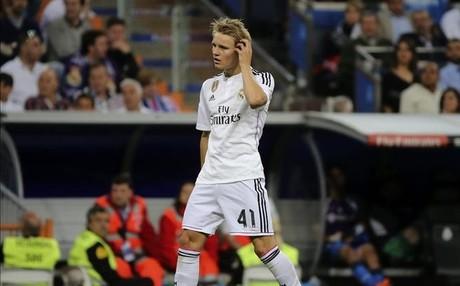 Odegaard con el Madrid
