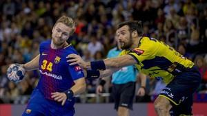 Palmarsson se está integrando poco a poco al juego del Barça