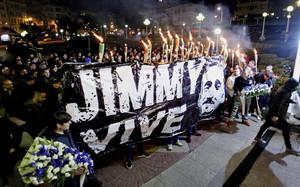 Marcha convocada en A Coruña por la Asociación Jimmy Sempre con Nós