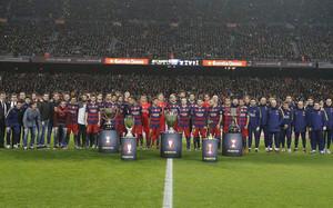 El FC Barcelona consiguió cinco títulos en 2015