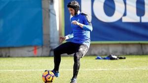 Piatti jugará con casco en el Bernabéu