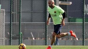 Javier Mascherano pudo entrenarse de nuevo con el grupo