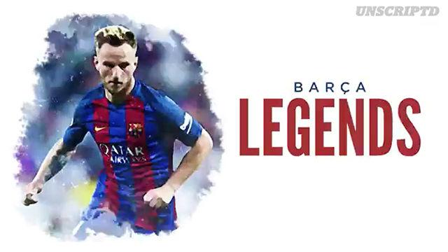 Rakitic hizo su particular equipo de Barça Legends