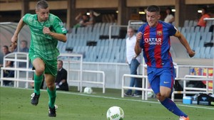Sergi Palencia quiere seguir de capitán del Barça B en Segunda A