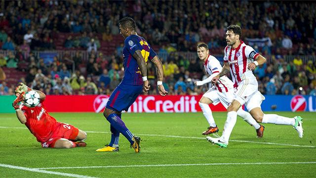 LACHAMPIONS | FC Barcelona - Olympiacos (3-1): Paulinho fue de los mejores del Barça ante Olympiacos
