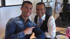 Cristiano Ronaldo, jugador del Real Madrid, y Jorge Mendes, su representante