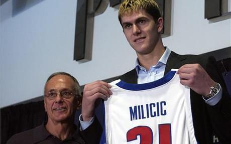 Darko Milicic jug� en los Detroit Pistonis