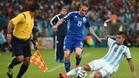 Edin Visca, en un partido con la selecci�n bosnia ante Argentina