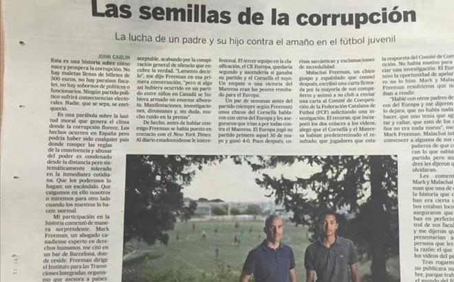 La FCF toma cartas en el asunto que destap� el diario El Pa�s