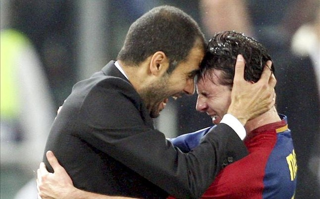 Guardiola sue�a con Messi