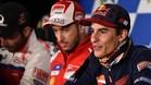 Márquez y Dovizioso, juntos en la rueda de prensa de Phillip Island