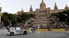 Sébastién Ogier durante la primera etapa en el circuito urbano de Barcelona