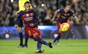 Neymar falló el penalti ante el Betis
