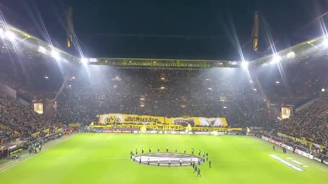 Otra lección de la afición del Borussia Dortmund