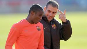 Etoo se deshace en elogios hacia Guardiola