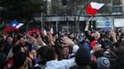 Los aficionados de Chile salieron a la calle para celebrar el triunfo