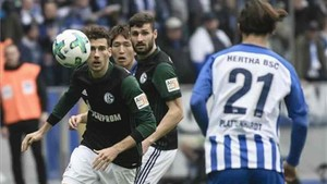 Goretzka, en el partido ante el Hertha