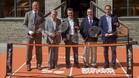 Albert Agustí, Manolo Santana, Alberto Berasategui, Ramón Agenjo y Albert Costa