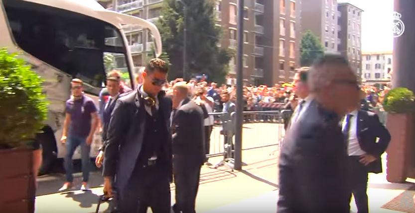 As� ha sido la llegada del Real Madrid a Milan
