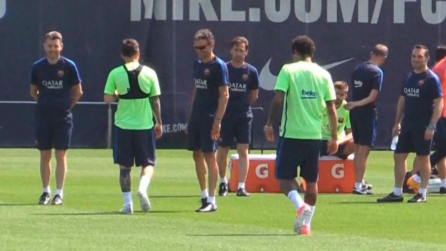 Así ha sido el último entrenamiento de Luis Enrique como entrenador del Barça