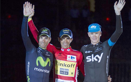 Este es el podio final de la Vuelta