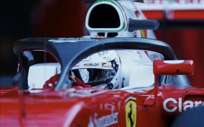 El 'Halo', en el coche de Vettel en marzo