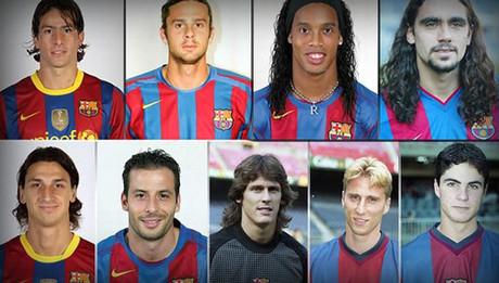 Los futbolistas con pasado azulgrana y parisino