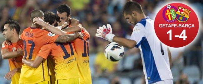 El Barça golea en Getafe y mete presión al Madrid