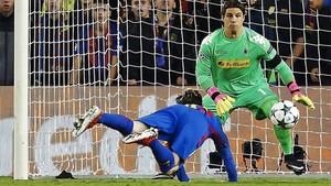 Sommer, guardameta del Borussia Mönchengladbach, el último portero al que ha superado Leo Messi