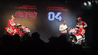 Lorenzo y Dovizioso, en la presentación de Ducati