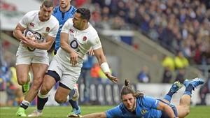 Inglaterra pasó por encima de Italia en cuanto se puso a la labor