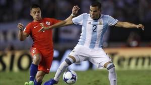 Mercado se lesionó en el partido en que la selección argentina batió a Chile