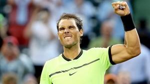 Rafa Nadal valoró su victoria tras el incómodo debut en Miami