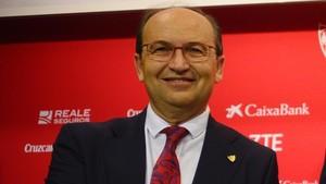 José Castro, presidente del Sevilla, repasó los posibles fichajes del club