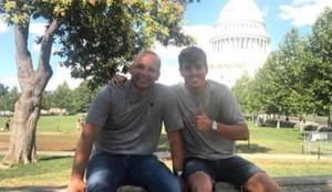 El padre de Neymar, junto a Álvaro Costa en Washington