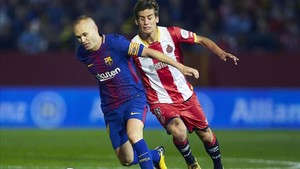 Iniesta, en el partido ante el Girona